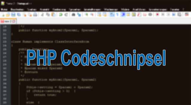 PHP-Code Beispiele